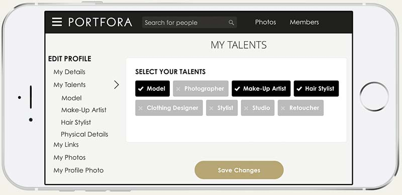 You can showcase multiple talents in one profile